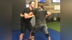 Chris Pratt Tussles With UFC Legend Randy Couture During Wrestling Session