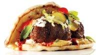 Spicy Flatbread Lamb Burger