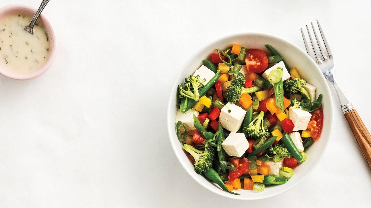 Veggie Salad With Tofu