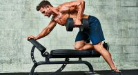 Lat exercise: One-arm dumbbell row