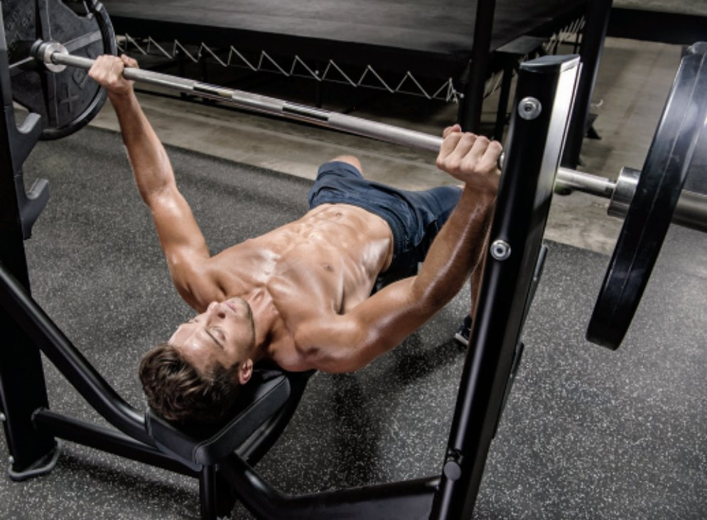Barbell Bench Press to Collarbone
