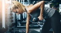 Woman Doing One-Arm Dumbbell Rows