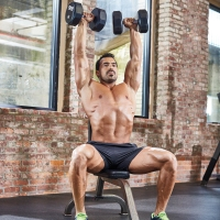 Seated Overhead Dumbbell Press