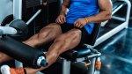 Man Doing Leg Extension Exercise
