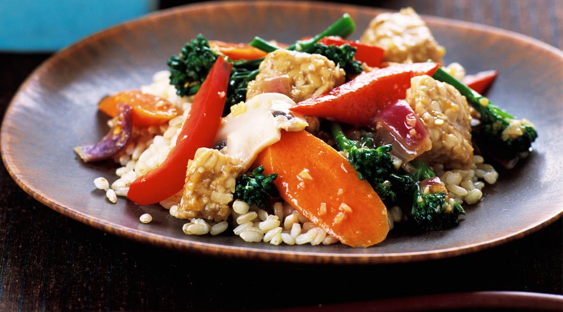 Stir-Fried Tempeh With Orange Sauce