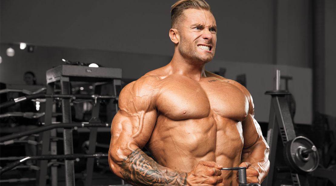 Chris Bumstead training shoulders
