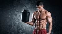 Bodybuilder With Protein