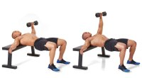 Hips-Off-Bench Single-Arm Dumbbell Press