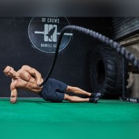 Battle-Rope Wave From Side Plank