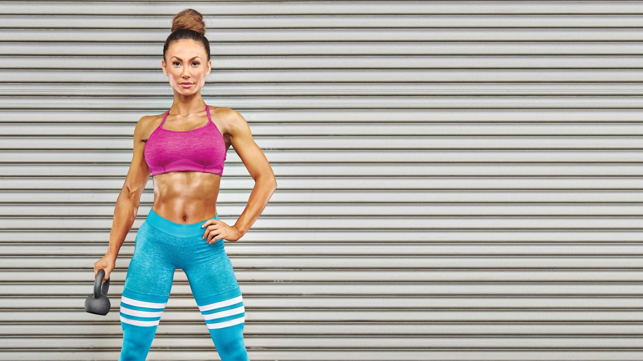 Compound Movements Plan Woman With Kettlebell
