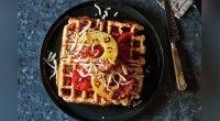 Hawaiian Pizza Waffles