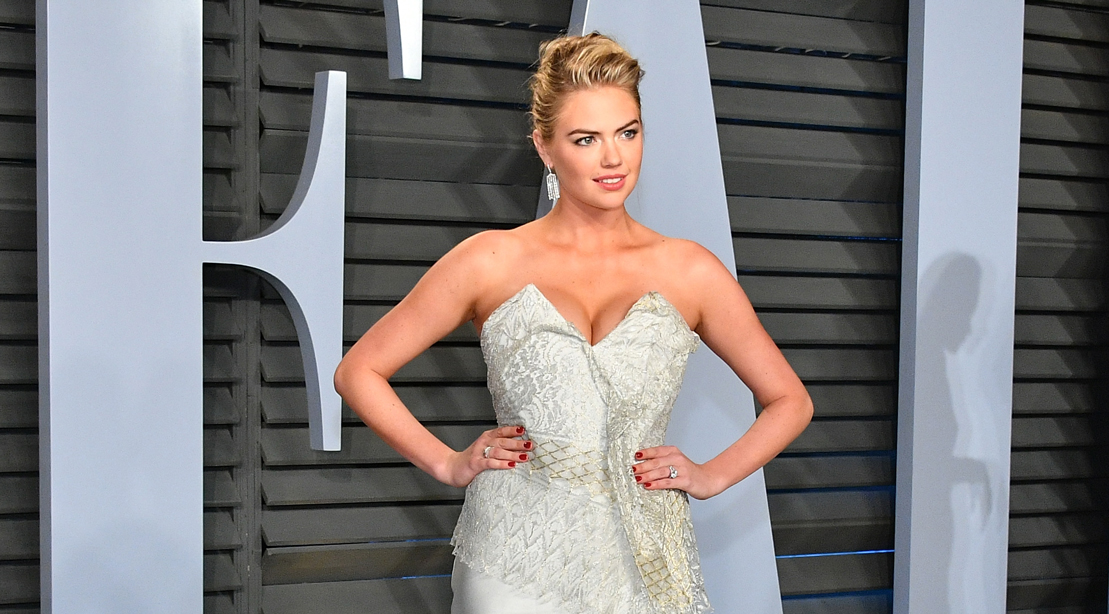 Kate Upton Attends the 2018 Vanity Fair Oscar Party