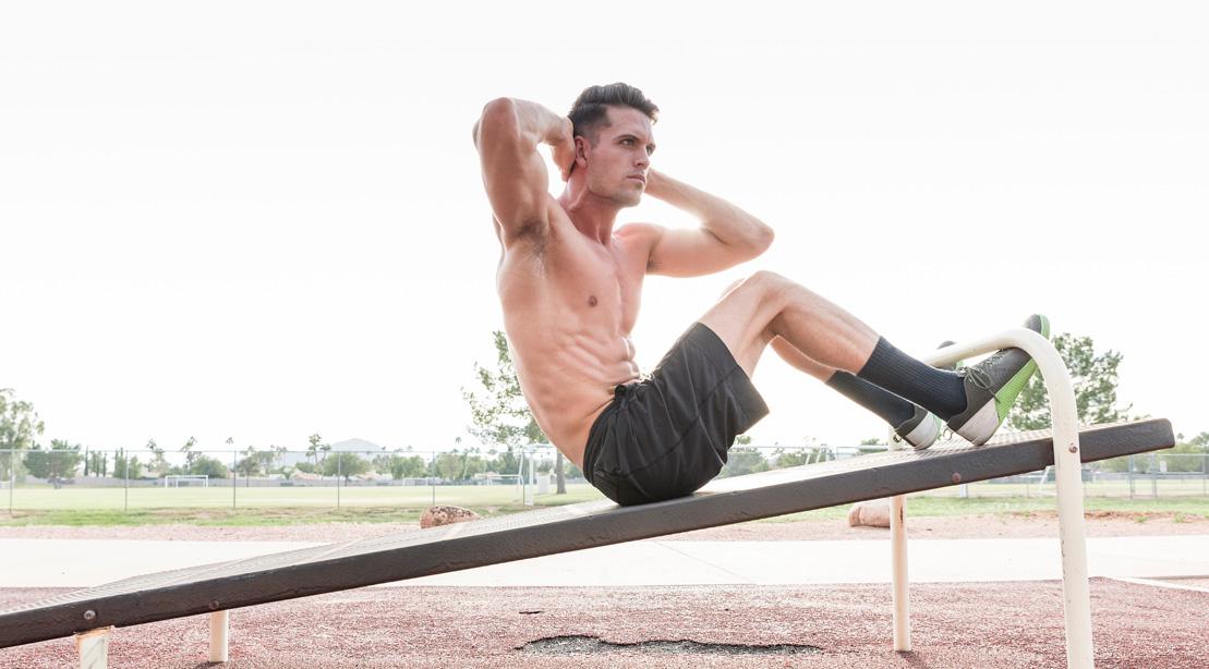 Man Training Outdoors