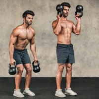 Kettlebell Double Outside-The-Body Clean
