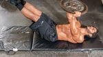 Plate Supine Leg Raise and Hip Thrust