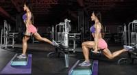 Nathalia Melo doing Deficit Bulgarian Split Squat