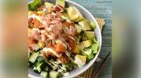 Recipe: How To Make Salmon Buddha Bowl With Creamy Sriracha Dressing