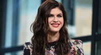 Alexandra Daddario talks heavy lifting, dog-based workouts, and her two-time co-star, The Rock.