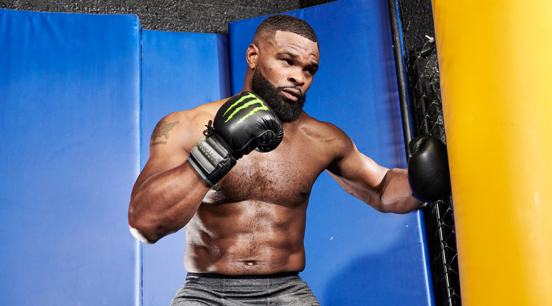 Ufc Welterweight Champ Tyron Woodley S Title Card Workout Muscle Fitness