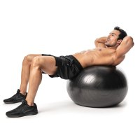 Stability Ball Bicycle Crunch
