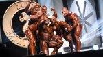 Group of bodybuilders onstage