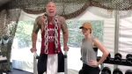 The 'Jungle Cruise' Cast Works Out With 'The Rock,' Hilariously Talks Smack