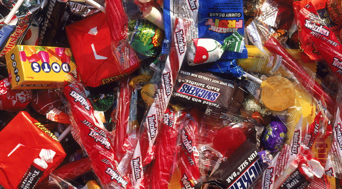 A pile of candy