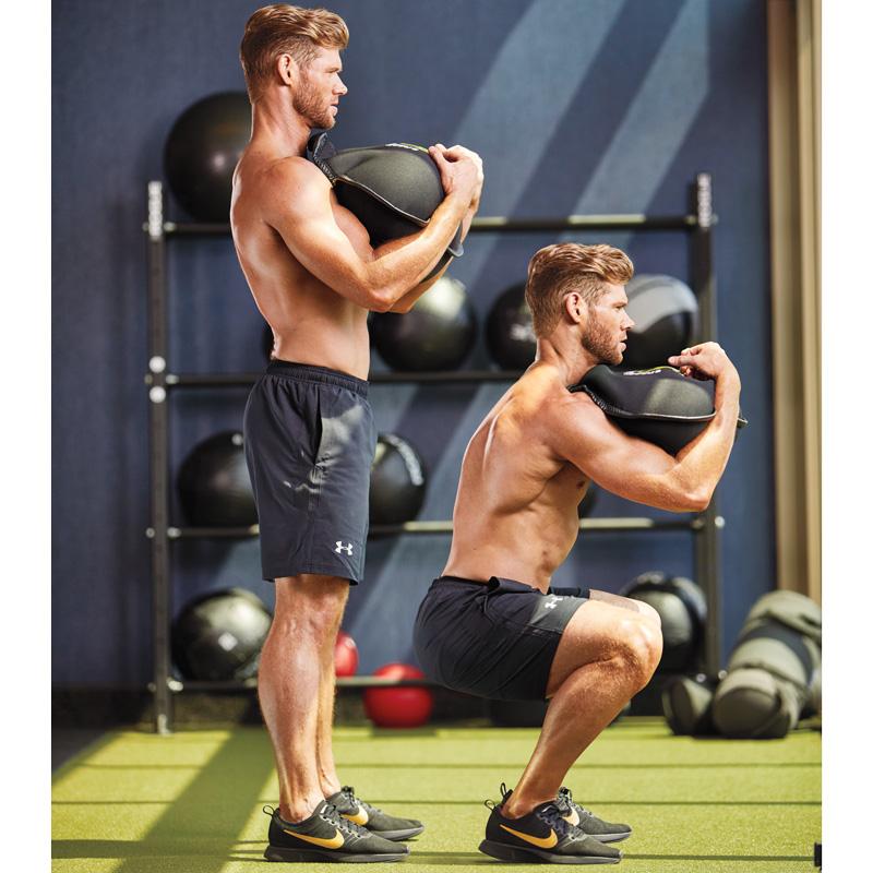 Sandbag Zercher Squat Exercise Video Guide Muscle Fitness