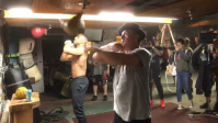Michael B. Jordan and Sly Stallone Train Together in 'Creed II' BTS Video