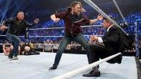Daniel Bryan attacks The Miz on WWE Smackdown.