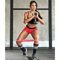 Banded Hip Abduction With Dumbbell