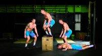 Burpee box jump-over