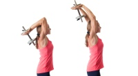 Woman Doing Triceps Extensions
