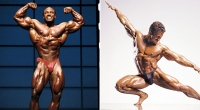 Bodybuilders Lee Haney and Lee Labrada