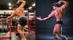 Arnold Schwarzenegger's Son Poses Like Dad