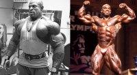 Bodybuilders Ronnie Coleman and Flex Wheeler