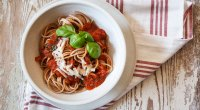Whole Wheat Pasta and Sauce