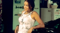 Actress Michelle Rodriguez Wearing a Dirty Tanktop in the First The Fast and Furious Movie Franchise