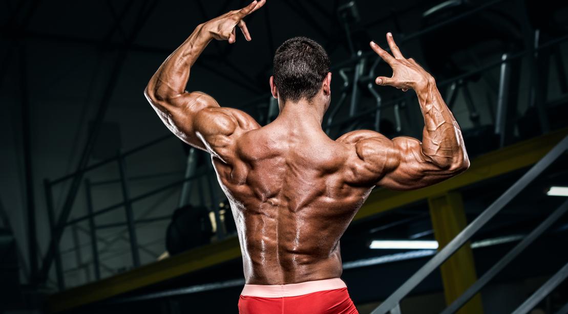 Man Flexing His Back