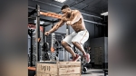 Man Doing a Box Jump