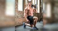 Man Doing Dumbbell Split Squat