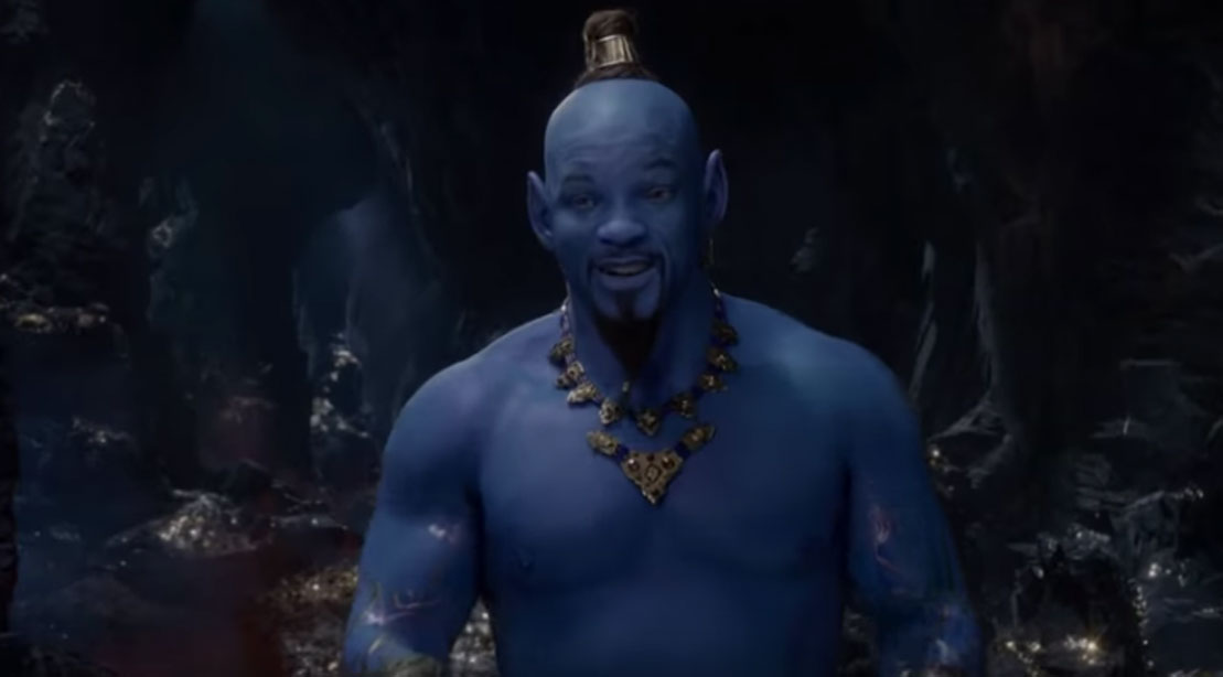 Will Smith's Blue Genie in 'Aladdin' Teaser Trailer Breaks the Internet