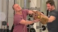 Weights Be Gone, This Fighting Man Uses a Sword to Work Out