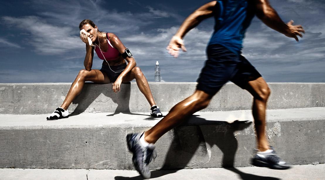 Girl-Resting-Guy-Running