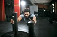 5 Exercise Athletes Sled Push