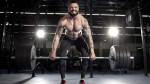 Bodybuilder deadlifting heavy weights