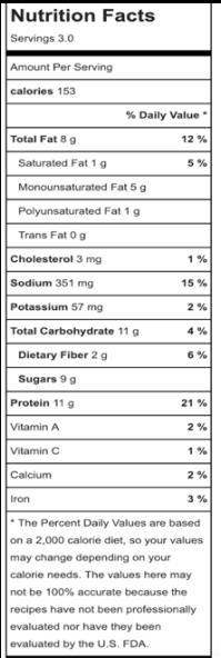 CitrusPeanutSauce_nutrition