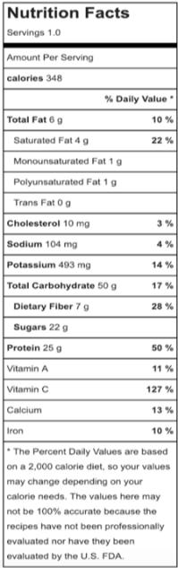 PinaColadaShake_nutrition