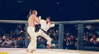 12: Royce Gracie in action during the Ultimate Fighter Championships UFC 1 on November 12, 1993 at the McNichols Sports Arena in Denver, Colorado.