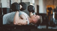 Man Dumbbell Bench Press